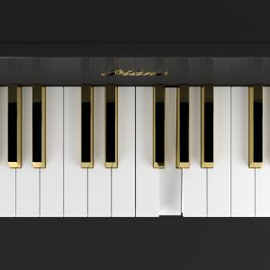 Klaviatur mit goldenen und weißen Tasten