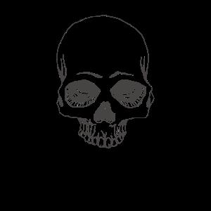 Totenkopf Minimalistisch Totenschädel Skull Bones