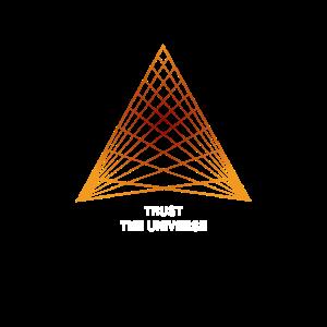 Trust the Universe Geometrie orange