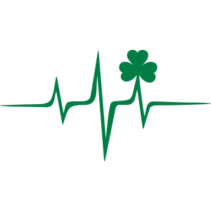 Kleeblatt Puls Frequenz Patricks Day Irland Musik