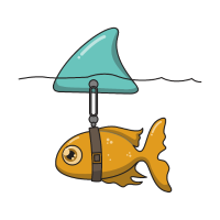 Fisch mit Haifischflosse