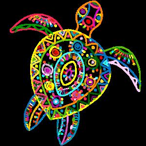 Schildkröte Vintage Hawaiian Tribal Sea Turtle