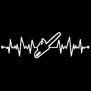 KETTENSÄGE - HOLZARBEIT - HEARTBEAT - GESCHENK