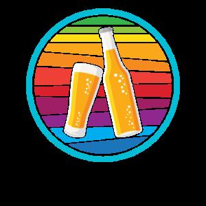 Bier Beer Retro Bierflasche Party feiern Geschenk