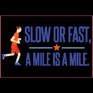Langsam oder schnell. Und Miles ist Meilen.