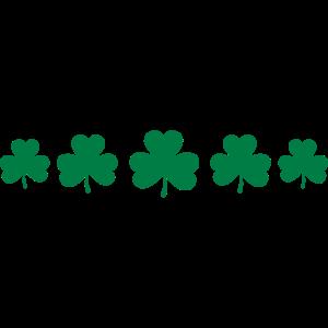 St. Patricks 5 Kleeblätter Kleeblatt Glücksbringer