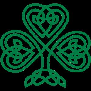 Kleeblatt Keltisches Symbol Herz St. Patricks Day