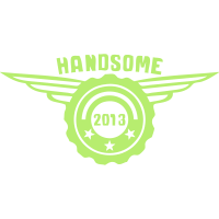 2013 handsome Jubiläums-logo