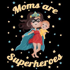 Super Mom - süßes Geschenk für Mama oder Baby
