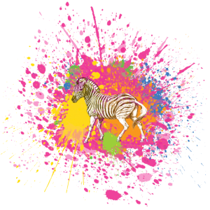 Zebra Splatter Tier