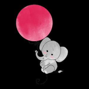 Elefant Luftballon Flug Kinder Baby Shirt
