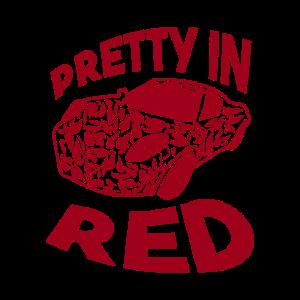 Huebsch in rotem Top das schick aussieh