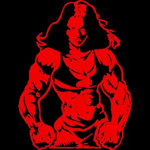 girl power muscles bodybuilderin
