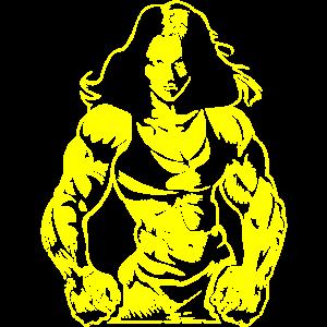 Girl Power Bodybuilderin Frauenpower Frau