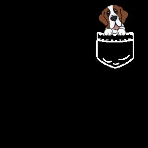 Bernhardiner Hund Tasche Hemd Pocket Geschenk