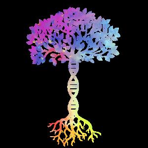 DNA Biologie Genetik Baum des Lebens Gene Geschenk