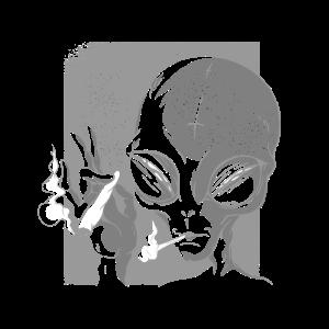 Let´s get High Geschenk weed cannabis spruch alien