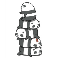 Süße Pandas Geschenkidee