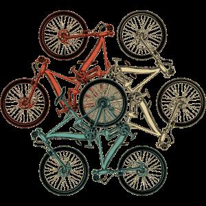 Lustiges Vintages Fahrrad