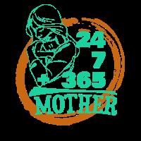 24/7 + 365 Mother Souvenir Items, Gift Idea, Gift