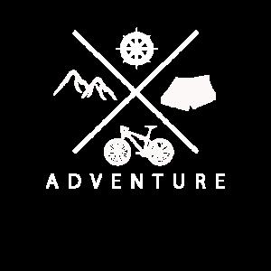 Camping Zelt Berge Fahrrad Wald Retro Adventure