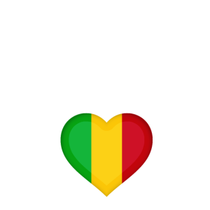Mali Africa Heart Home Flag
