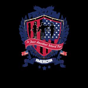 Freedom America - Freiheit Amerika Usa Geschenk