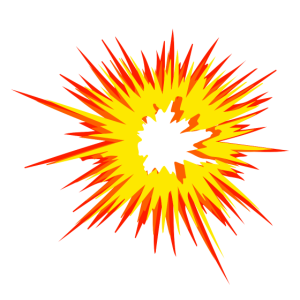 Explosion Stern Flamme