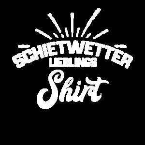 Norddeutsch Schietwetter Lieblings Shirt regen
