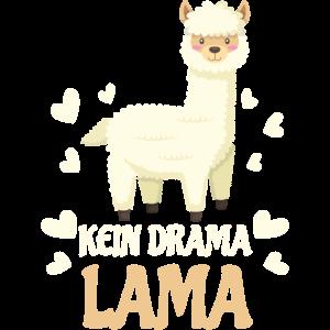 Kein Drama Lama Geschenk lustig Herz süß