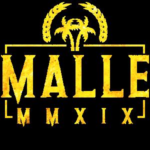 Malle 2019 palmen gold
