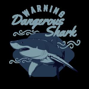 Warnung gefährlicher Hai