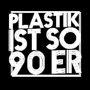 Plastik ist so 90er Stoffbeutel