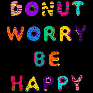 Donut sorgen, glücklich sein