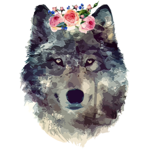 Aquarell Wolf
