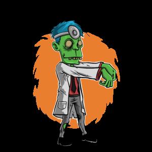 Zombie Arzt Geschenk Zahnarzt Doktor