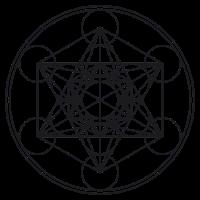 Metatron Cube Würfel Blume Leben Heilige Geometrie