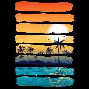 Sommer Sun Palm Tree Beach Ocean künstlerisch