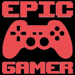 Epic Gamer Gaming Controller Spruch Geschenk