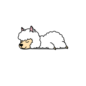 Schlafendes Alpaka