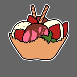 Eiscreme mit Waffel