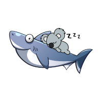 Koala Riding Shark Funny Trend
