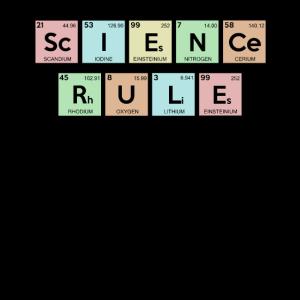 Wissenschaftsregeln Chemische Elemente Lehrer für Naturwissenschaften