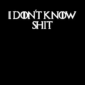 Ich weiß nicht, Scheiße
