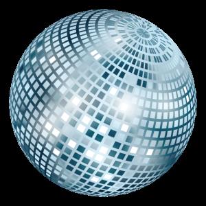 Diskokugel / Spiegelkugel / Disco (Silver, PNG)