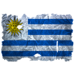Uruguay Fahne / Flagge vintage use look