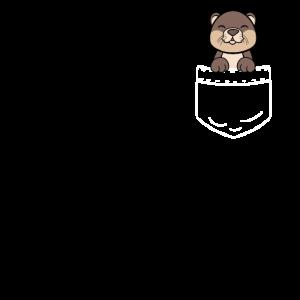 Otter Fischotter Seeotter Tasche Pocket Geschenk