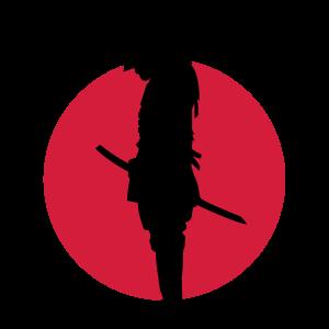 Japan Samurai Warrior (Japan flag)