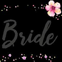 Bride mit Blumen