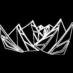 Berge geometrisch weiss